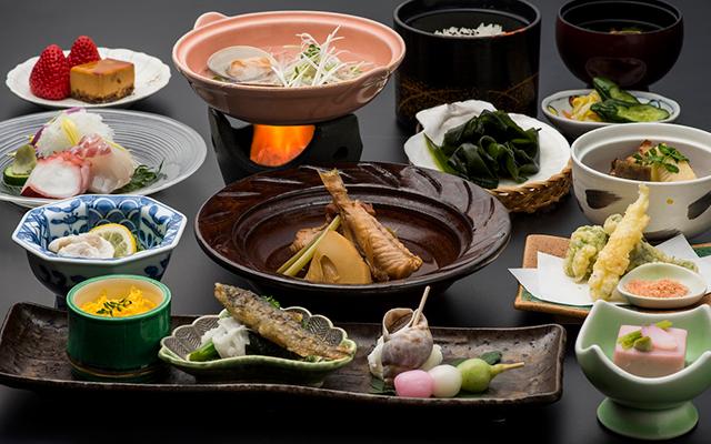 季節の魚介と旬彩会席イメージ